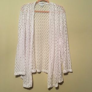 Jaclyn Smith 3X white lace long sleeve cardigan